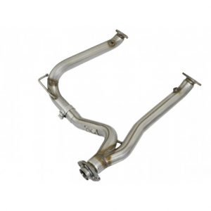 AFE Twisted Steel Y-Pipe 2-1/2 IN 409 Stainless Steel Toyota FJ Cruiser